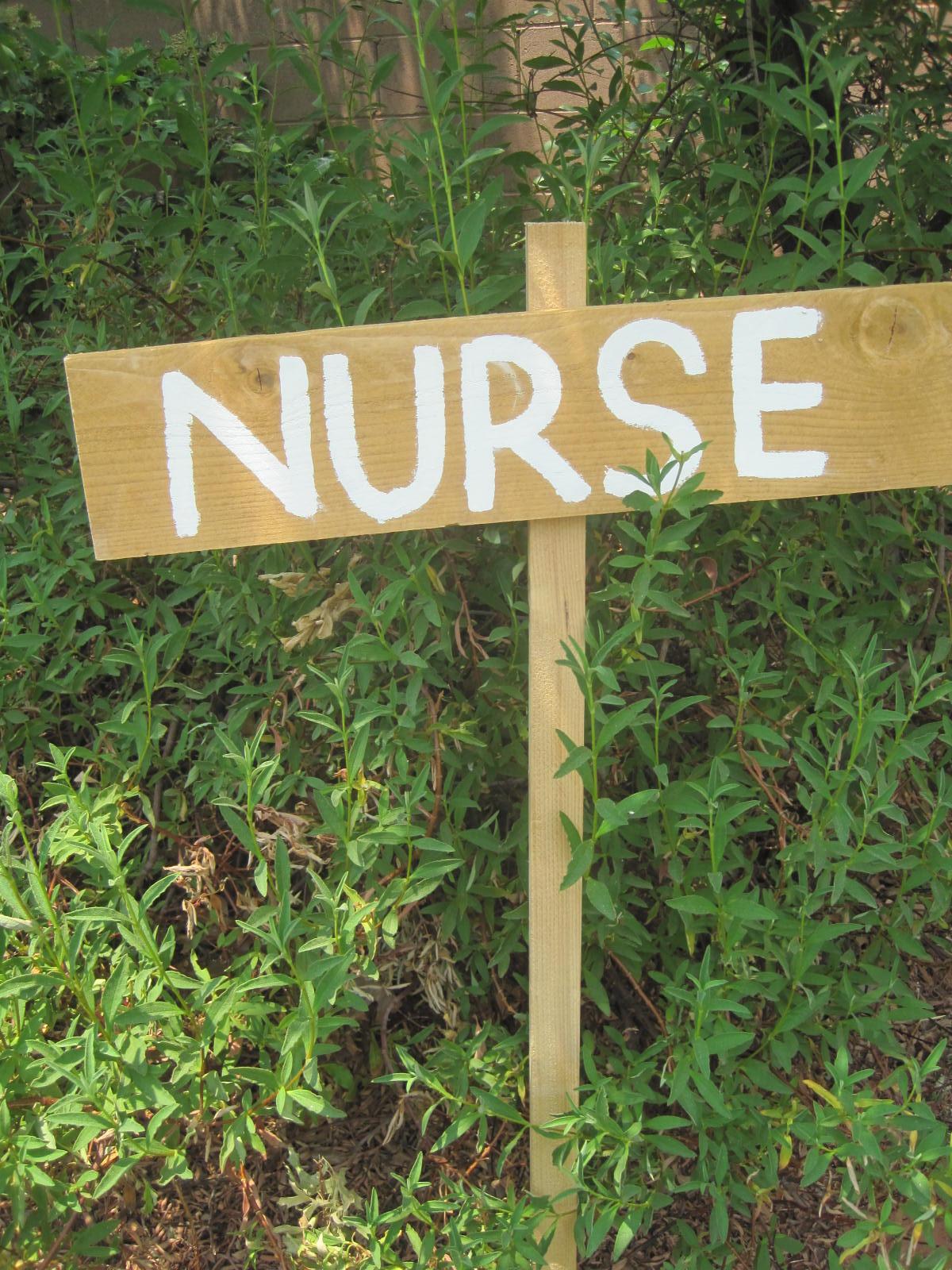 camp nurse sign